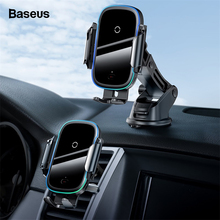 Baseus 2 in 1 Qi Car Wireless Charger for iPhone 11 Pro Max Samsung Note 10 15W Fast Charging Wireless Car Charger Phone Holder
