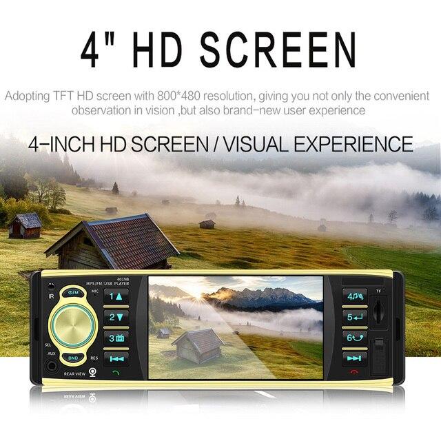 Autoradio 4019B HD 4.1 pouces 1 Din | Autoradio, Bluetooth vidéo, lecteur MP5 avec caméra arrière