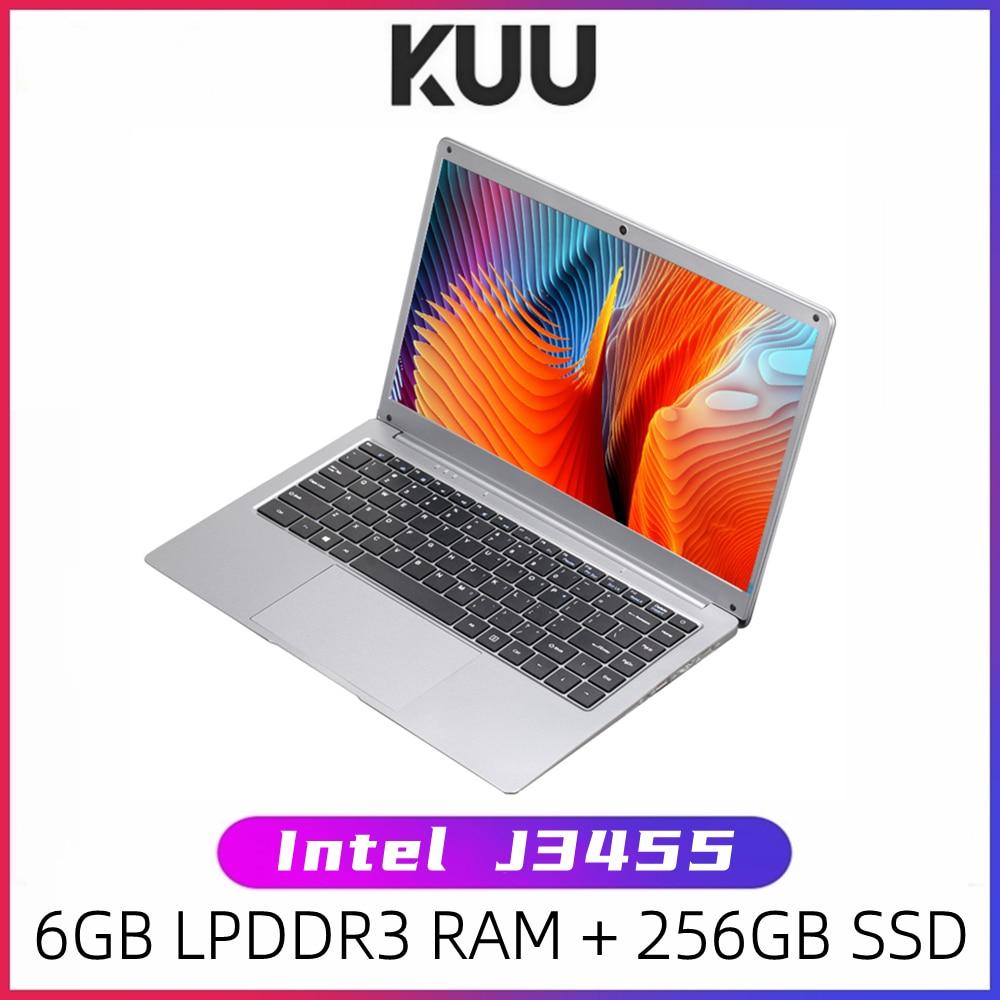 KUU SBOOK M 14.1 pollici Intel J3455 Student Laptop Notebook 6GB RAM 128GB SSD Laptop Windows 10 Intel Celeron J3455 Wifi Computer