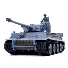 цена на 1:16 German Tiger Heavy Tank 2.4G Remote Control Model Military Tank With Sound Smoke Shooting Effect - Basic Edition