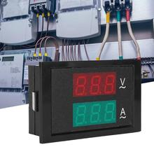 AC 80-300V 0-50A Dual Display AC Voltage Current Meter With Current Transformer Wide Measurement ac power meter ac 80 300v 100a voltage current color lcd display panel digital voltmeter ammeter with current transformer ct