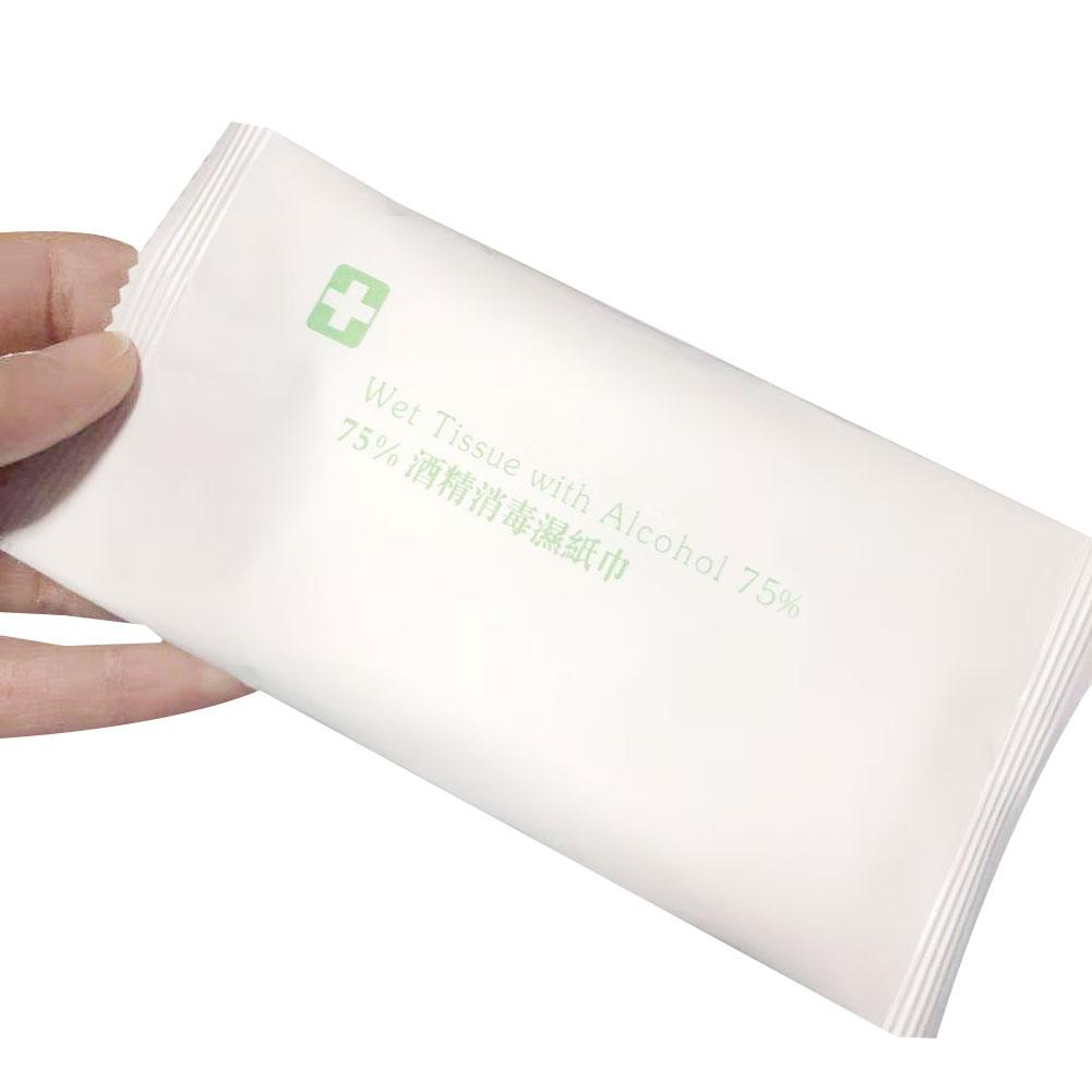 New 50Pcs Disposable Sterilization Disinfection Alcohol Wet Wipes Cleaning Tissue