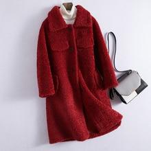 Abrigo de piel Real Otoño Invierno chaqueta de lana ropa de Mujer 2020 abrigo de lana Vintage coreano pelo de oveja Brigo Mujer 1911060 2896