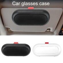 Brillen Halter Sonnenblende ABS Sonnenbrille Box Universal Car Interior Gläser Fall Gebaut in Faser Samt Schutz