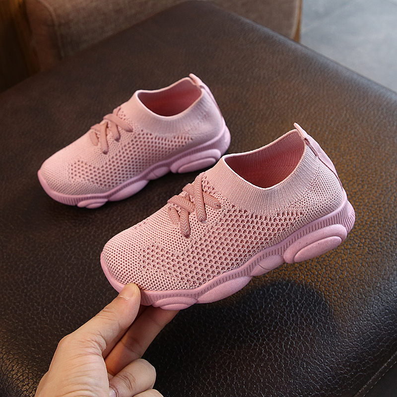 Kids Sneakers Running Children Shoes Boys Sport Shoes Girls Breathable Knit Socks Sneakers Outdoors Soft Casual Shoes