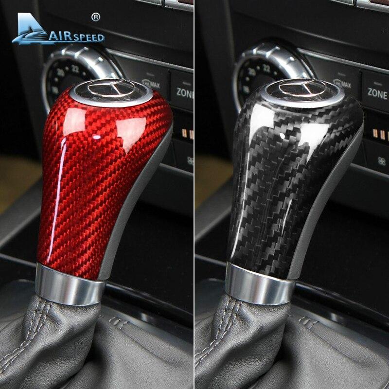 Airspeed vraie Fiber de carbone pour Mercedes Benz A G E C classe CLS accessoires pour Mercedes W204 W212 garniture intérieure couvercle de changement de vitesse