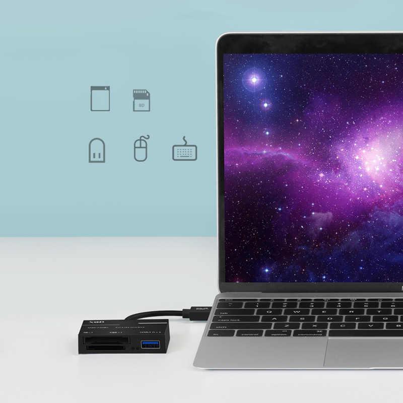 سهم جاهز USB 3.0 نوع C USB إلى SD XQD قارئ بطاقات كابل محول كاميرا USB3.0/2.0 XQD ABS المحمولة ل سوني G سلسلة