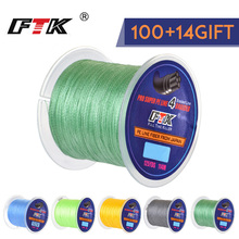 FTK 114M Braided Wire PE Braided 0.4#-6.0# Code 4 Strands 8-60LB PE Braided 0.1-0.4mm Multifilament Fishing Line for Saltwater oliver strelli oliver strelli туалетные духи 7 5 мл