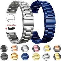 Roestvrij Stalen Band Voor Huawei Horloge Gt 2 46Mm 42Mm/Gt Actieve 3 Band Armband Voor Honor magic 20Mm 22Mm Metalen Pols Horlogebanden