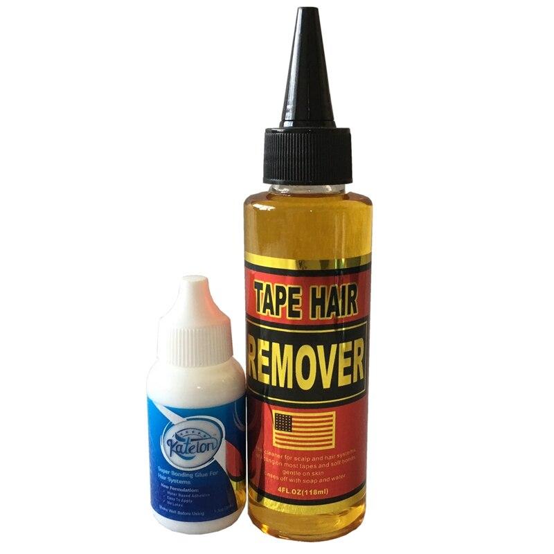 New Arrival 1 Bottle 1.3 Oz 38 Ml Katelon Super Bonding Adhesive Wig Glue With 1 Bottle 4 Oz 118ml Tape Hair Remover