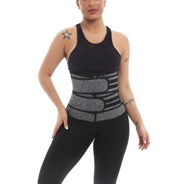 1Pcs Women Body Shaper Belt Hot Sweat Belt Neoprene Sauna Suit for Weight Loss Cincher Workout L 5
