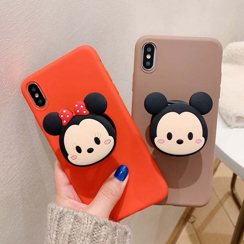 3D silicone cartoon phone holder case for <font><b>Samsung</b></font> Galaxy A71 A51 A70 A60 <font><b>A50</b></font> A40 A30 A20 A10 M30 M20 M10 A80 soft <font><b>back</b></font> <font><b>cover</b></font> image