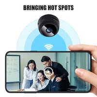 Mini cámara HD 720p inalámbrica WiFi IP, Monitor de red A9, V380 Pro, VERSIÓN NOCTURNA de seguridad, vídeo secreto, ángulo de 150 grados