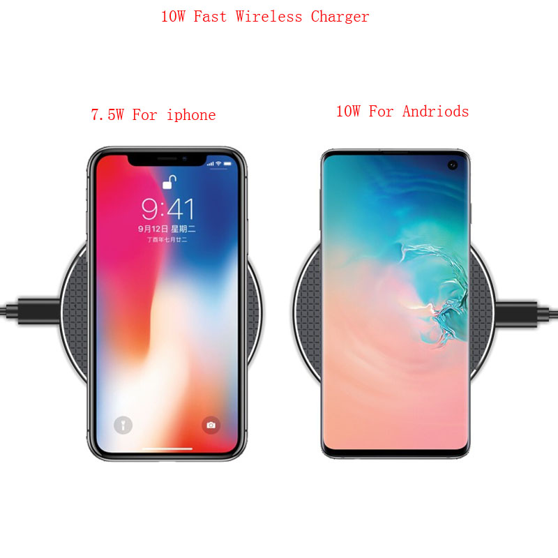 10W Wireless Charger For Samsung Galaxy Note 9 8 S6 S7 Edge S8 S9 S10 Plus S10e S10 5G Qi Fast Charging Pad Case Phone Accessory