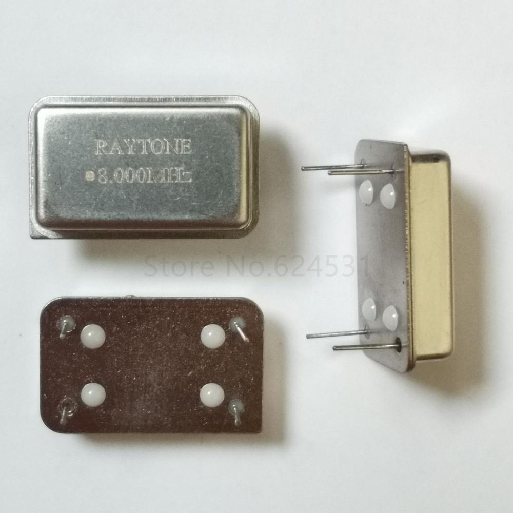 5pcs In-line Active Crystal OSC DIP-4 Rectangular Clock Vibration Full Size 8M 8MHZ 8.000MHZ