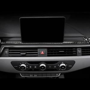 Стайлинг автомобиля, декоративная рамка из углеродного волокна для навигации, наклейка на приборную панель, наклейки, отделка для Audi A4 B9 ...