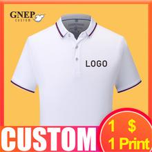 Рубашка поло с короткими рукавами изготовленным на заказ логосом