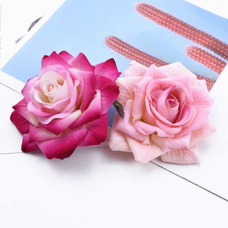 1/5 stück 10CM samt rosen kopf Valentinstag geschenke hochzeit braut zubehör freiheit wohnkultur künstliche blumen billig