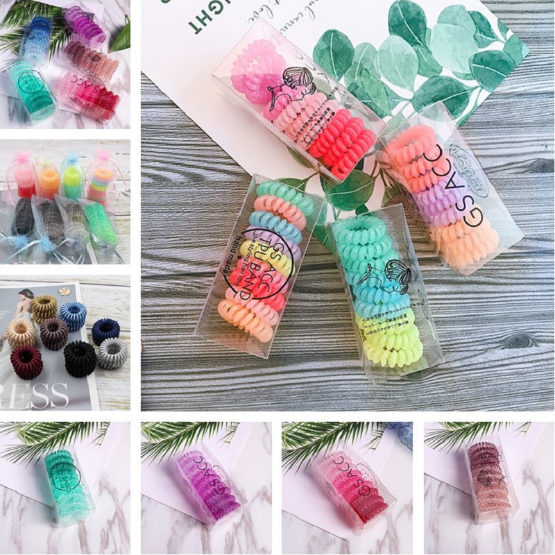 9PCS/3PCS Phone Rope Womens Elastic Hair Bands Fashion Ponytail Holder Rubber Bands Scrunchie Kids Hair Accessories   HeadWear