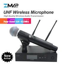 ZMVP QLXD4 UHF профессиональный QLX Беспроводной микрофон Системы с BETA58 ручной передатчик для сцены в прямом эфире вокала караоке речи