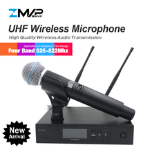 High Quality UHF Professional QLXD4 Wireless Microphone System With Hyper Cardio