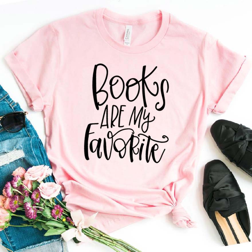 Books are my Favorite Print Women tshirt Cotton Casual Funny t shirt For Lady Girl Top Tee Hipster Drop Ship NA-312