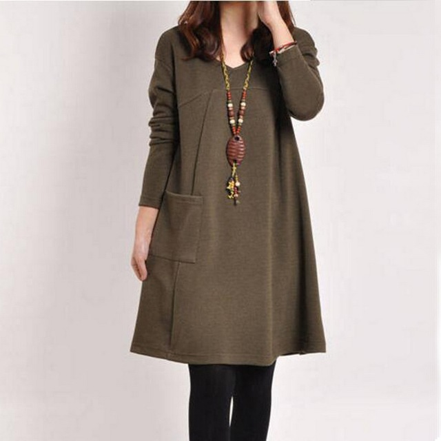 LOOZYKIT Autumn Maternity Dresses in Casual Style 3