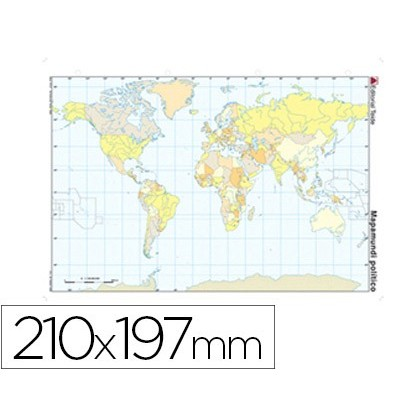 MAP MUTE COLOR DIN A4 PLANISPHERE POLITICO 100 Units