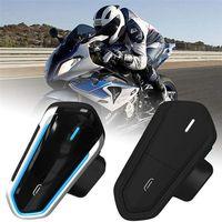 Motorcycle Bluetooth Headset with MIc FM Radio Motorcycle Helmet Headphone Communication Noise Cancellation Waterproof Ip54