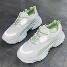 2020 New Women White Luminous Platform Sneakers Shoes Woman
