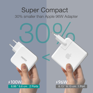 Image 5 - CHOETECH 100W GaN Fast Type C Charger For MacBook Pro PD 3.0 2 Port USB C Charger for Samsung Dell XPS Pixel 4 QC3.0 Adapter