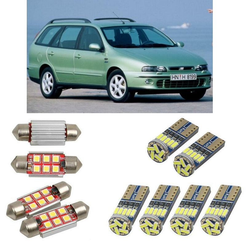 Interior Led Car Lights For Fiat Marea 185 Sedan Weekend 185 Dome Bulbs For Cars License Plate Light 6pc