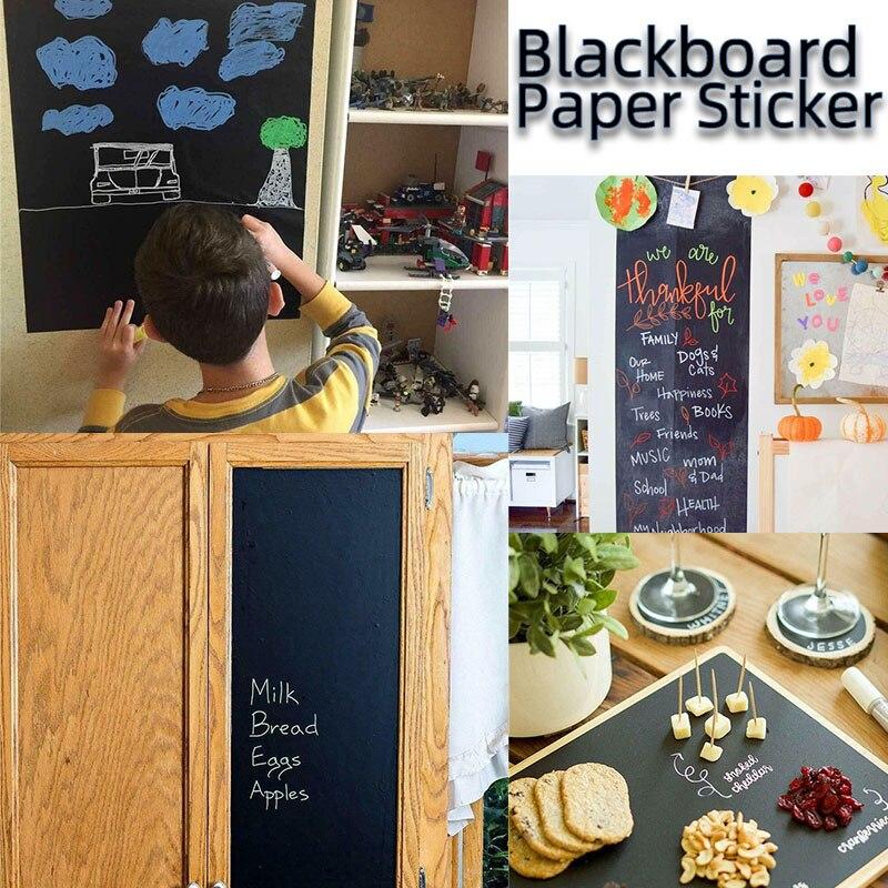 45x100cm Kids Blackboard Paper Removable Wall Sticker Chalkboard Decal Children Blackboard Chalkboard Sticker Roll For Boy Girls