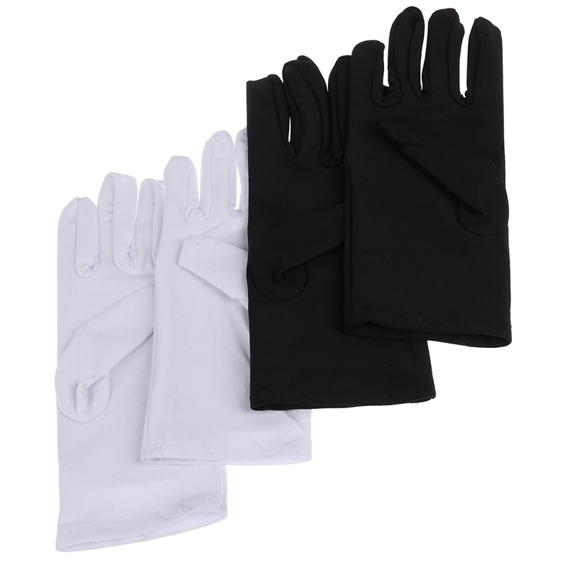 1Pair 2Colors Cotton Gloves Khan Cloth Quality Check Solid Gloves Rituals Play White Gloves
