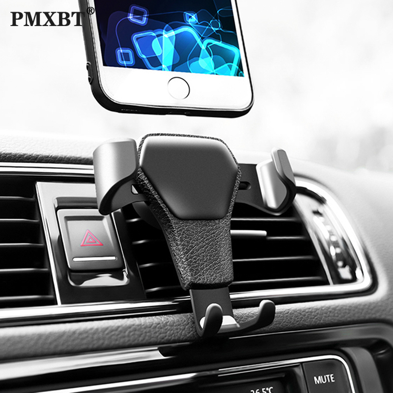 Gravity Car Phone Holder For Phone In Car Air Vent Clip Mount Mobile Phone Holder For IPhone X 11 Samsung A50 Cell Stand Support