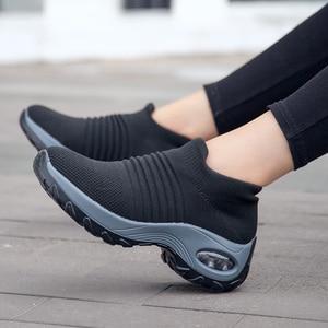 Image 3 - Uberu di Modo di Volo Tessuto Scarpe Da Tennis delle Donne Assorbimento Degli Urti Morbido Respirabile Comodo Casual Donna Runningg Scarpe Formato 35 42
