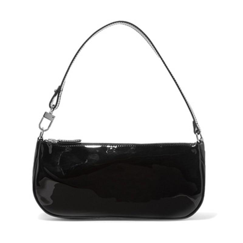Jollque Small Shoulder Bags For Women Crocodile Leather Baguette Bag Designer Brand Black Womens Handbags Purse Clutch