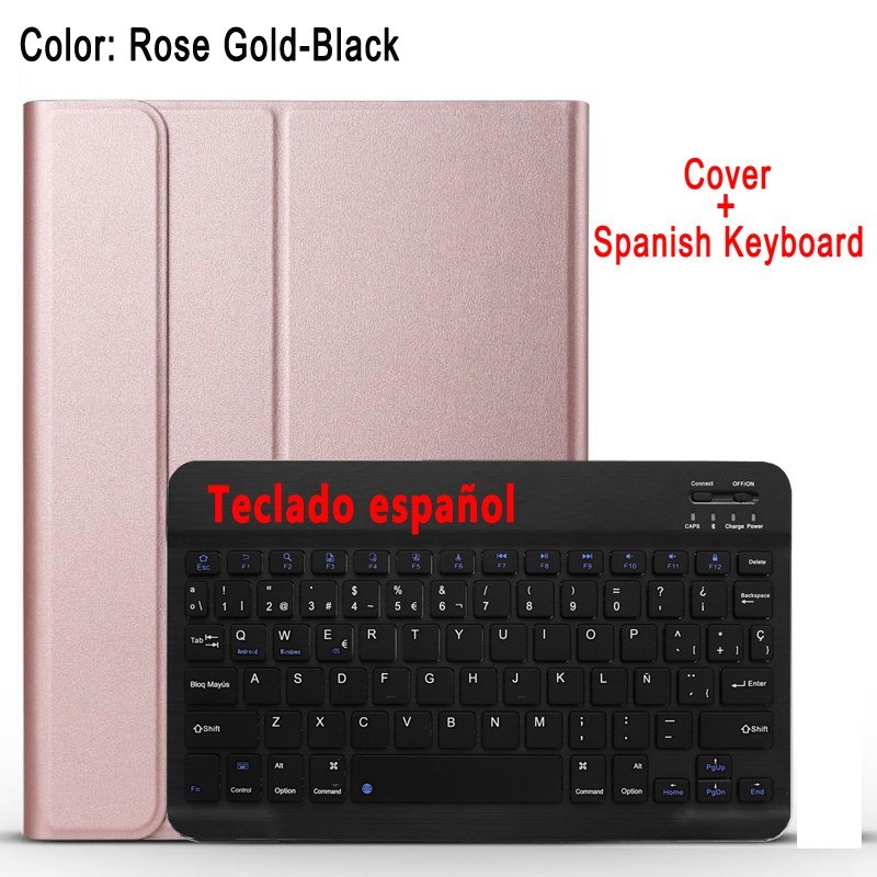 Spanish Keyboard Purple Case Keyboard For Apple iPad 10 2 2019 7 7th 8th Gen Generation A2197 A2200 A2198