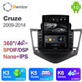 Android 10,0 Ownice Autoradio 2 Din для Chevrolet Cruze 2009 - 2014 автомобильное радио авто GPS навигация Мультимедиа DSP 360 панорама