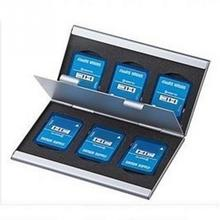 Buy Aluminum Alloy Double-Layers SD Card Storage Box 6 SD Card Slots Memory Card Protecter Case directly from merchant!