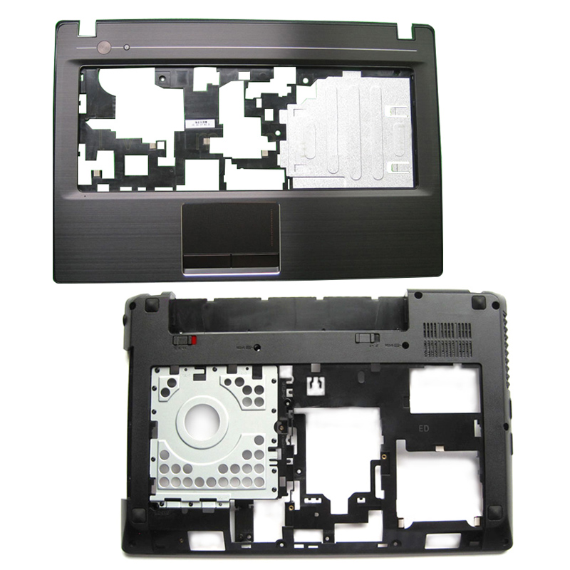New Laptop Palmrest Upper <font><b>Case</b></font>/Bottom Base Bottom <font><b>Case</b></font> with HDMI For <font><b>Lenovo</b></font> <font><b>G480</b></font> G485 Laptop Repair replacement parts image