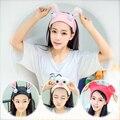Милый супер мило Южно-корейские милые лицевого моющего повязка на голову, повязка на голову с широкими полями головные уборы простая повязк...