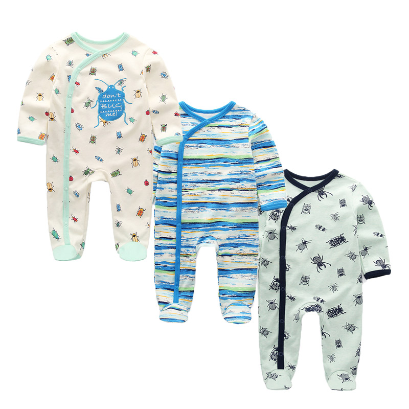 Hb05635a3d00d442ca58fdb65a819af46U 3 PCS/lot newbron winter Baby Rompers Long Sleeve set cotton baby junmpsuit girls ropa bebe baby boy girl clothes