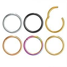1pc g23 titanium segmento articulado nariz anel clicker orelha cartilagem helix lábio piercing unisex moda jóias