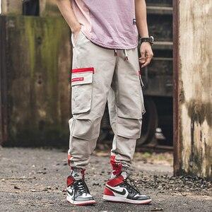 Image 4 - SingleRoad היפ הופ הרמון מכנסיים מטען גברים 2020 צד כיסי מכנסיים רצים Streetwear זכר אופנה מזדמן מכנסי טרנינג Jogger גברים