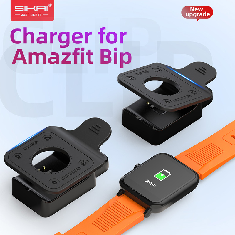 For Amazfit Bip Chargers Replacement Portable Clip Magnetic Cradle For Huami Bip Lite Midong Smart Watch A1608 Charging Dock USB