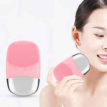 Electric Mini facial cleansing Brush massager brush for wash face cleanser machine deep clean Silicone Cleaner face cleaning soft silicone facial face deep cleansing clean wash pore skin care brush mini electric face washing exfoliating machine massager