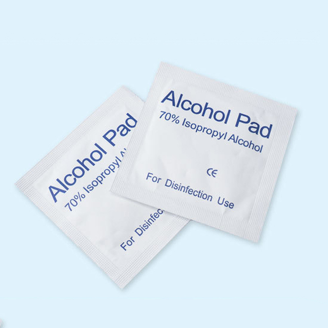 100Pcs Alcohol Pad Disinfection Disposable Cleaning Sterilization First Aid Wipe for Face Mouth Mask 2