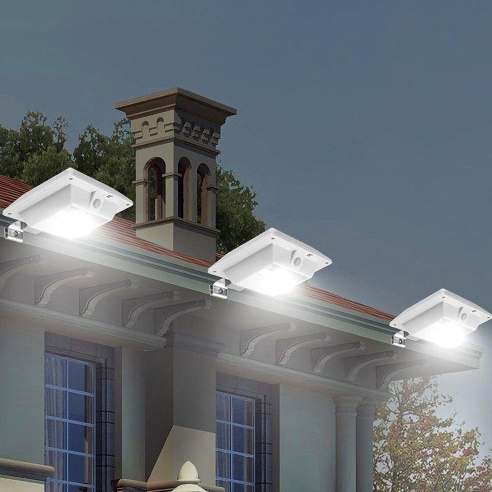 New LED Solar Light Professional Waterproof Energy Saving Lamp Safety Roof Gutter Light for Outdoor Sensor Wall Light