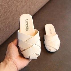 2020 nowe sandały dziecięce na dziewczynę kapcie letnie dziecięce buty sandały dziecięce modne tkane dziewczęce sandały na co dzień buty na plażę sandały w Sandały od Matka i dzieci na